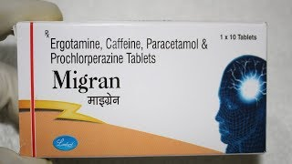 Migran Tablet Review in Hindi / Migrain, headache, anxiety, nausea....