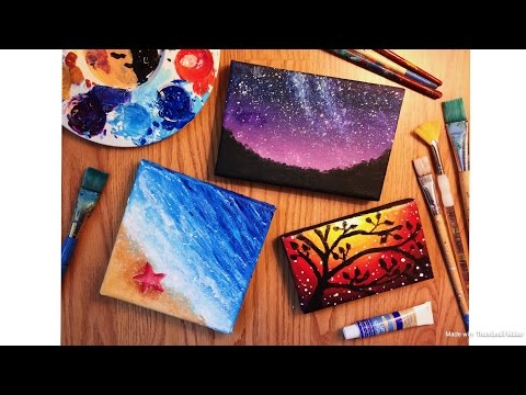 Painting Tiny Canvases