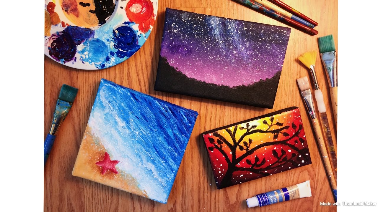 Canvas Paintings Part - 25: Painting Tiny Canvases