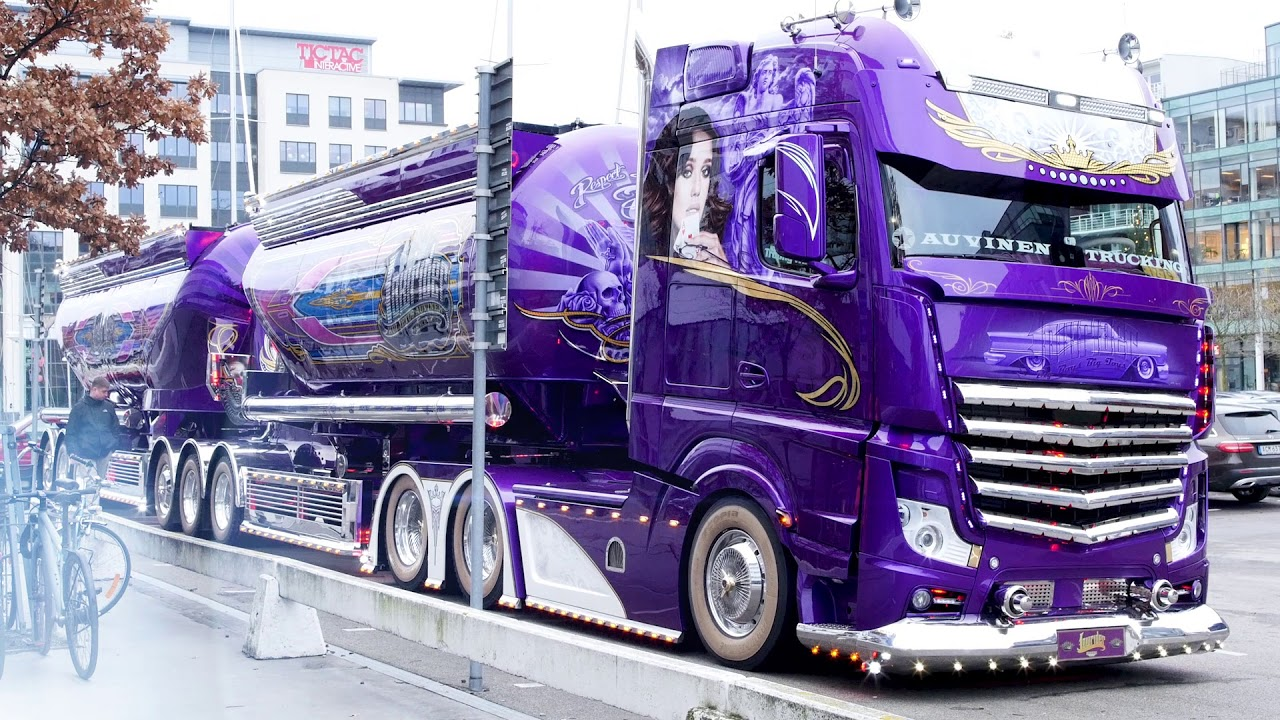 """Used Semi Trucks >> Mika Auvinens Mercedes Actros 2363 """"Lowrider"""" - YouTube"""