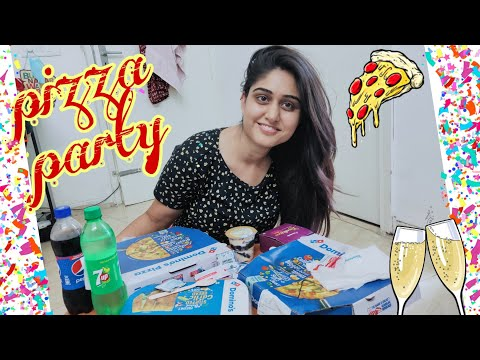 Pizza Party 🎉 जेब ढीली करा दी आज तो पति की 😂 Domino's Pizza Party