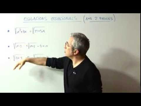Equacions Irracionals / amb 2 radicals