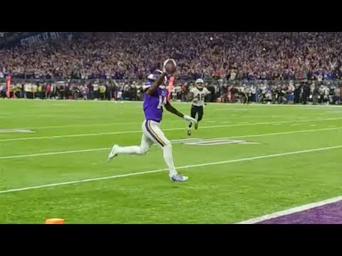 Sideline View of Diggs' Game-Winning Touchdown