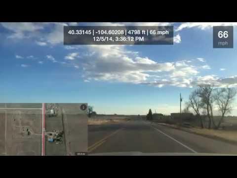 Drive Video December 5th, 2014.  Fracking Flare Colorado, Greeley, Colorado