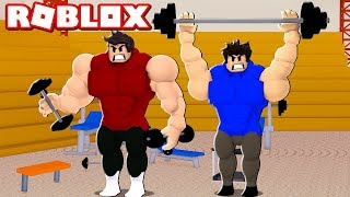 Roblox we MUSCLED in the GYM (Gym Island)