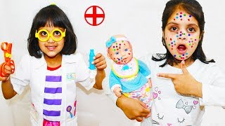 Doc Ashu Pretend Play Cures Baby Jannie Face Spots