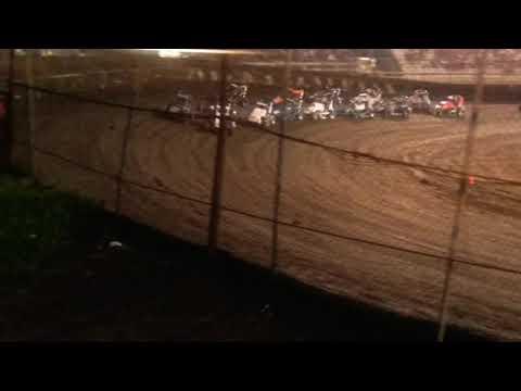 POWRi Midgets B Main  Macon Speedway