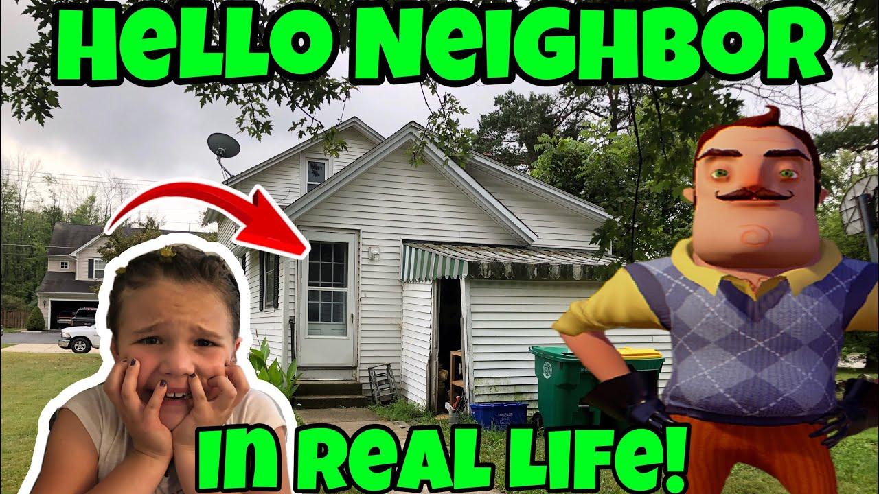 Real Life Hello Neighbor JoJo Bow Scavenger Hunt and LOL ...
