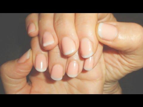 gel nails uas de gel diseo natural en ua corta aplicacin con punzn youtube - Uas De Gel Cortas