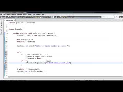 Java Tutorial - 11 - Validating User Input