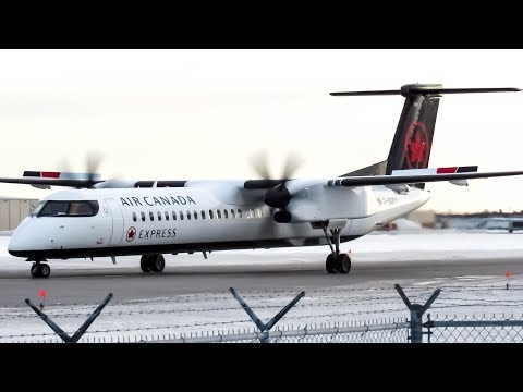 "Air Canada Express ""New Livery"" Bombardier Dash-8 Q400 departing Montreal (YUL/CYUL)"