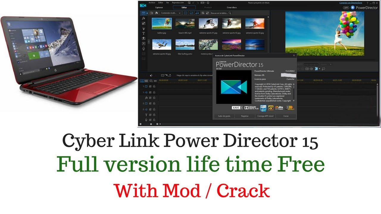 cyberlink powerdirector 15 full free download