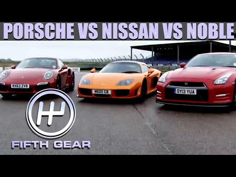 Porsche 911 Turbo S vs Nissan GT-R vs Noble M600 | Fifth Gear