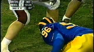 Colgate Delaware Football 2003 1st Half 1AA Championship