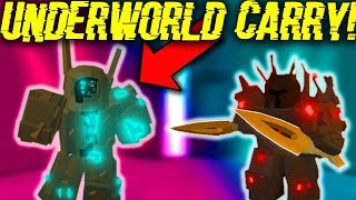 I CARRIED PEOPLE IN THE *NEW* UNDERWORLD DUNGEON! (ROBLOX DUNGEON QUEST)