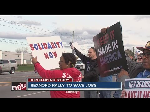 Rexnord employees rally to save jobs