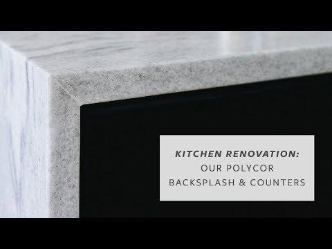 OUR KITCHEN RENOVATION: Polycor Stone Countertops & Backsplash Installation!