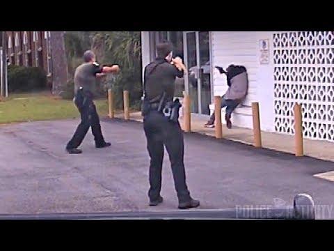 Dashcam Captures Police Shootout in Escambia County, Florida