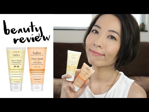 Mineral Sunscreen Reivew -  Babo Botanicals