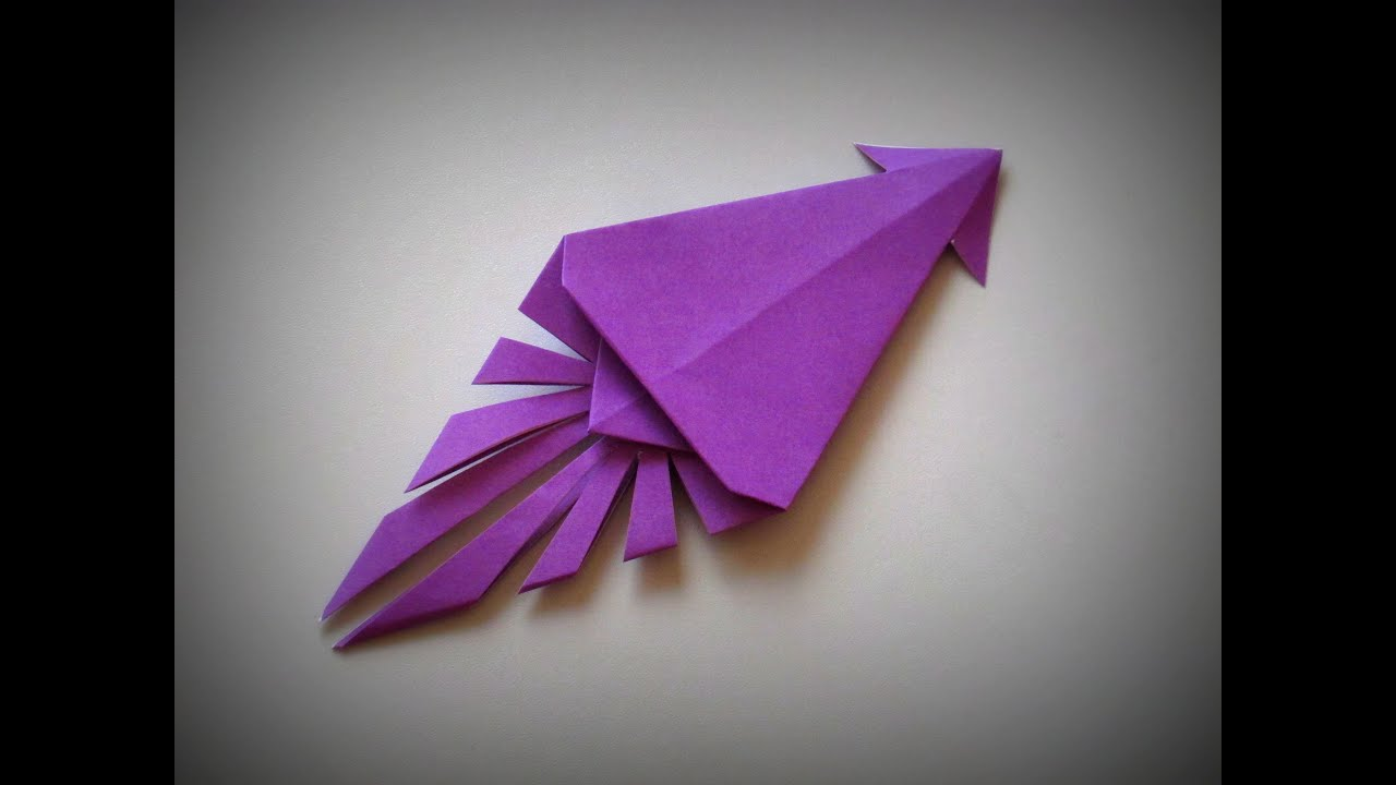 origami how to make a squid youtube