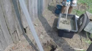 как приготовить бетонную смесь для заливки столбов?