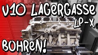 We're drilling the Lambo mainbearing. - LP-X project episode 19 - | Philipp Kaess |