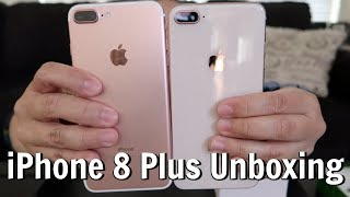 iPHONE 8 PLUS GOLD UNBOXING + WHAT'S ON MY iPHONE?