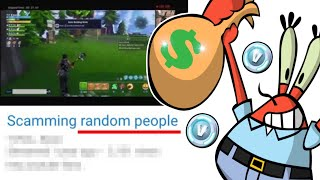 meet Fortnite Scammers that Scam Little Kids...