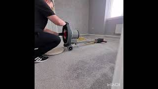 Numatic Hurricane rotary machine with Prochem bonnet cleaner carpet cleaning