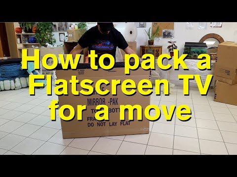 How To Pack A Flatscreen TV for Moving
