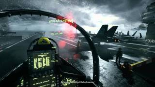BattleField 3 - Going Hunting, Jet Carrier Take Off - MAXED - Dual GTX 580