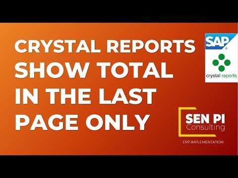 Crystal Reports - How To Show Field On Last Page Only