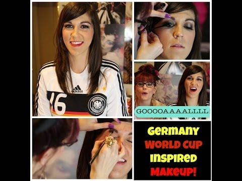 2014 FIFA World Cup Inspired Makeup look: Germany Team!