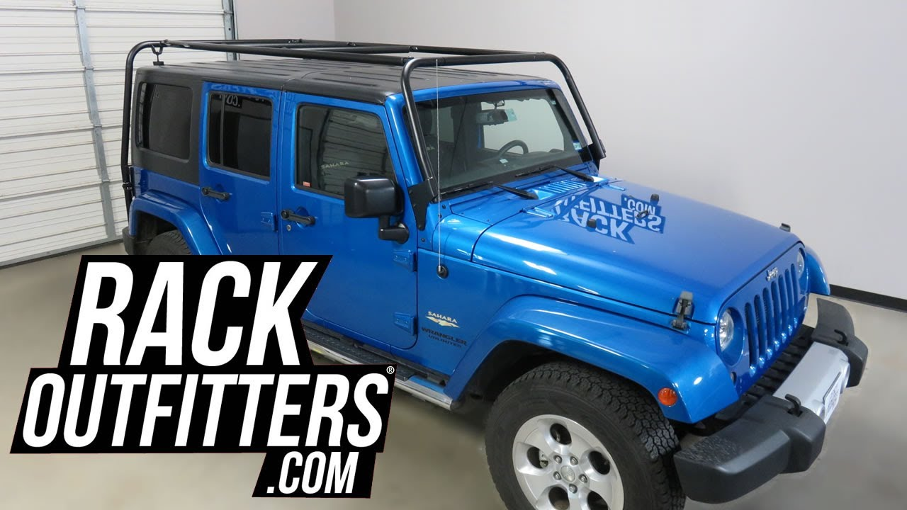 2007 to 2017 jeep wrangler unlimited with garvin wilderness adventure rack