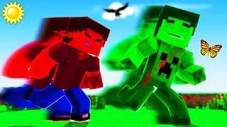 Minecraft - Green Steve VS Red Steve!