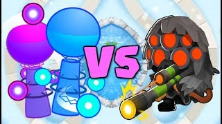HACKER TOWER BATTLE :: MAX SNIPER VS CHARGE TOWER HACK LATEGAME! :: Bloons TD Battles