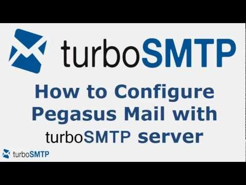 How to configure Pegasus Mail with turbo SMTP service provider