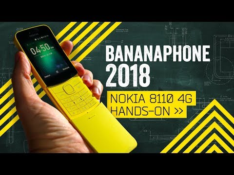The Banana Phone Is Back: Nokia 8110 4G Hands-On