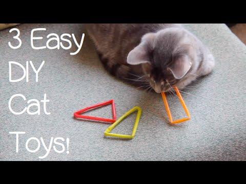 3 Easy DIY Cat Toys!
