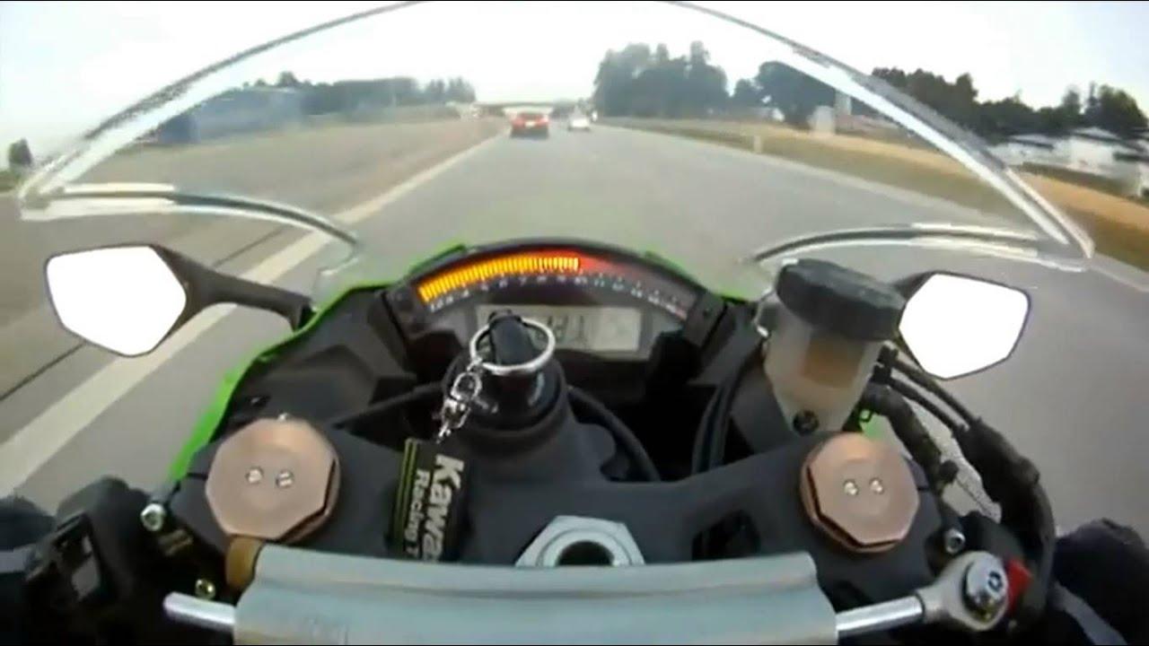 kawasaki ninja zx-10r - top speed 300 km/h - youtube
