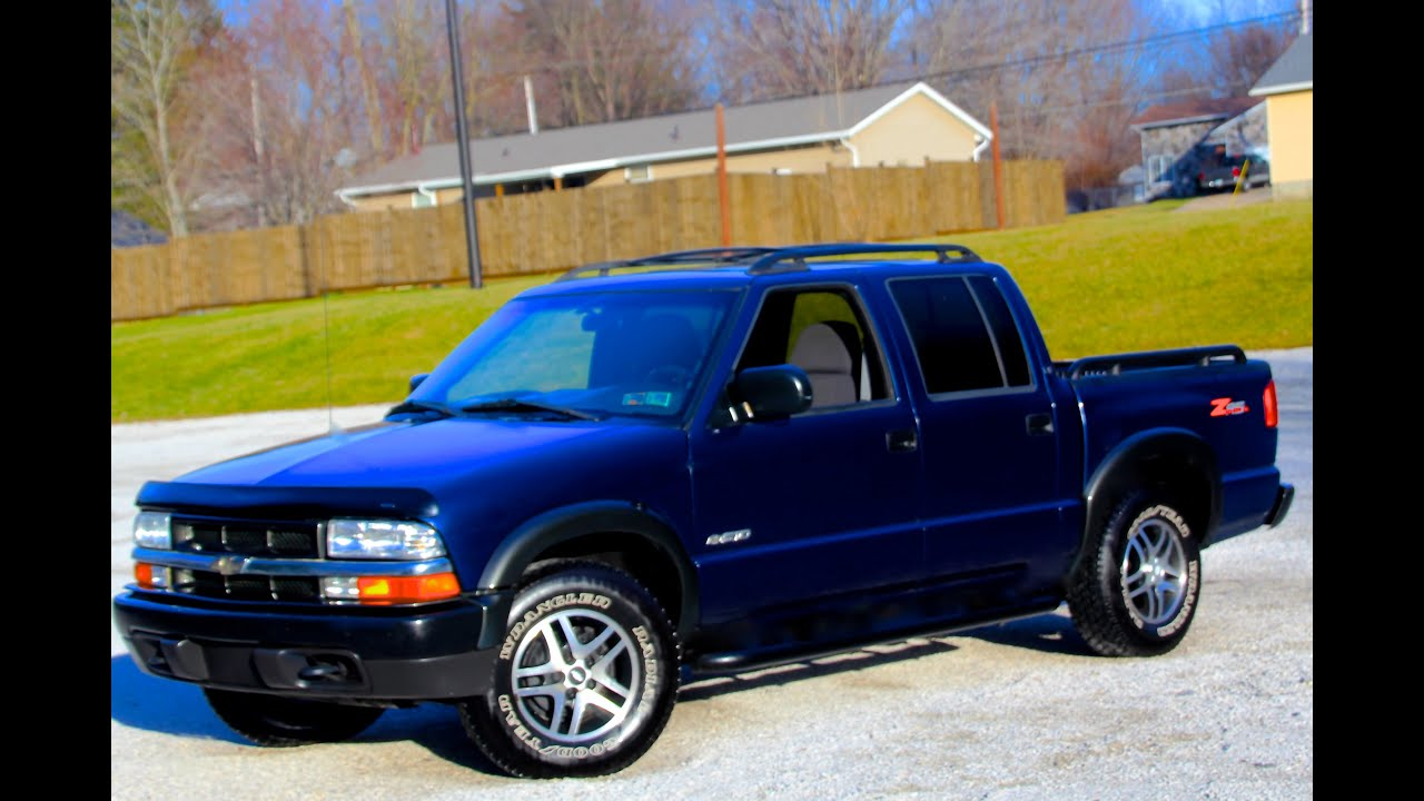 2003 chevrolet s 10 ls sr 5 4x4 crew cab youtube. Black Bedroom Furniture Sets. Home Design Ideas