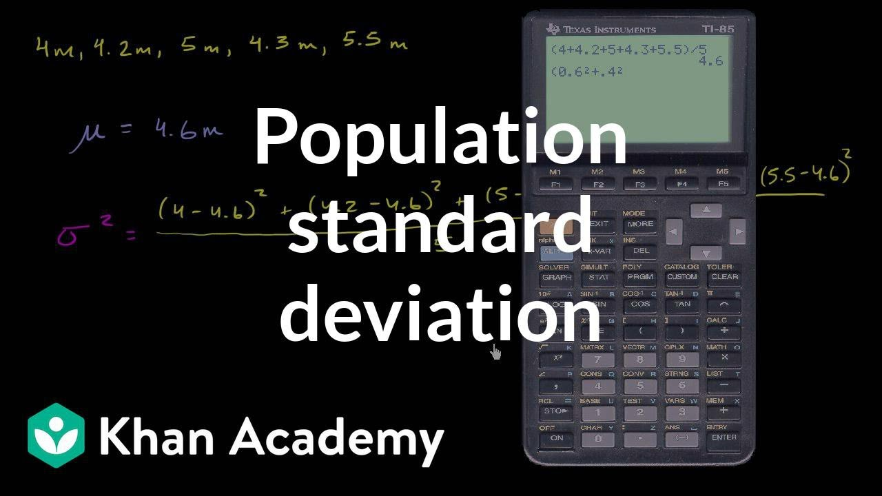 Population standard deviation (video) | Khan Academy