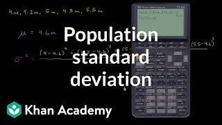 Population standard deviation | Descriptive statistics | Probability and Statistics | Khan Academy