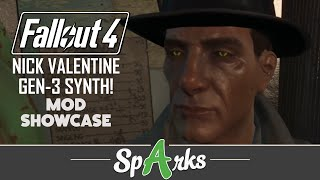 Fallout 4 Mods - Nick Valentine Generation 3 Synth Human Eyes Mod Showcase