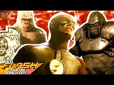 "The Flash Season 3 Episode 13 "" Attack on Gorilla City "" Recap Under 3 Minutes"