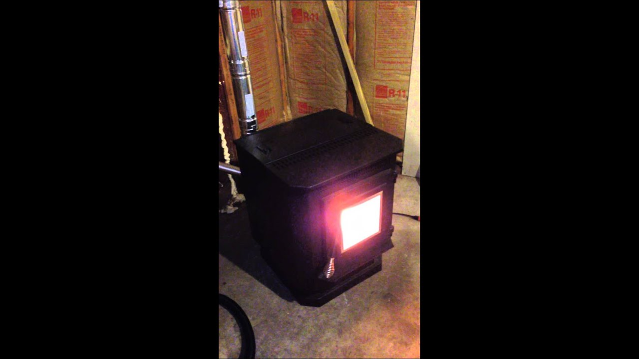 Pellet Stove Installation In A Uninsulated Garage 1 Of 4