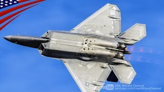 ものすごい練習飛行をするF-22ラプター ステルス戦闘機