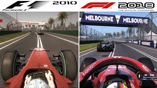 F1 Game Comparison (2010 - 2018 Gameplay Comparison)
