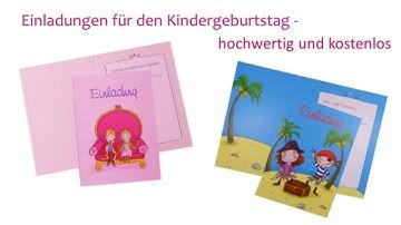 Einladung Kindergeburtstag - hochwertig und kostenlos