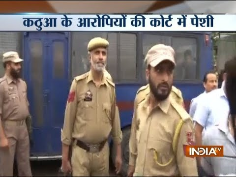 Kathua rape case: Accused brought to District Court for hearing